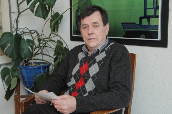 Åke Lindkvist, ordförande för moderaterna i Bollebygd när<br />föreningen fyllde 100 år – för 10 år sedan.