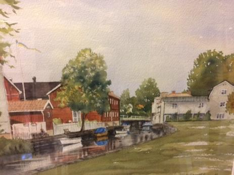 Ingela Lindblom målar helst i akvarell, men har också målat en del i både olja och akryl.
