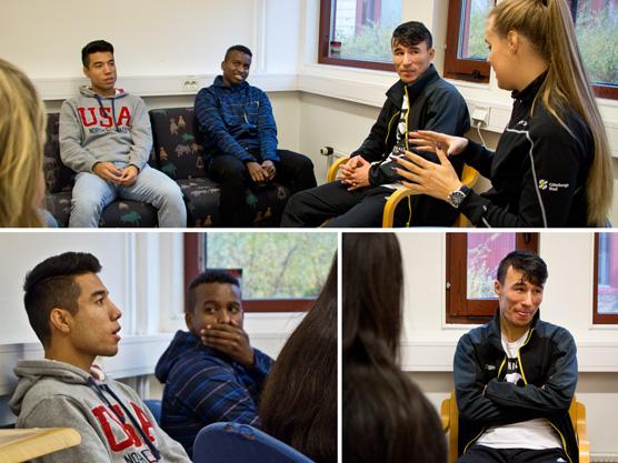 Övre bilden från vänster: Majid, Hassan, Ali, Catarina