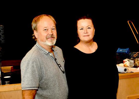 Arrangörerna. Peter Augustsson och Mia Bruce.