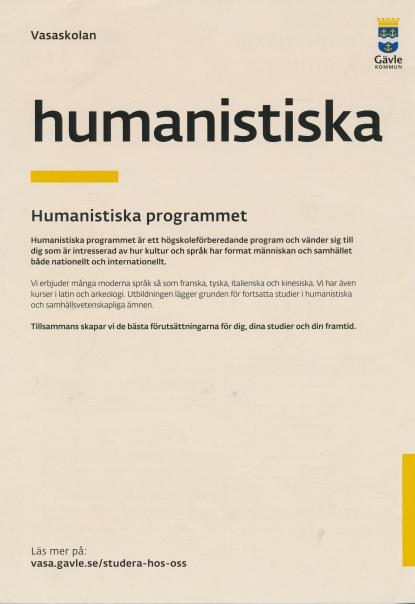 Humnaistiska programmet en ytterst torftig och felaktig text