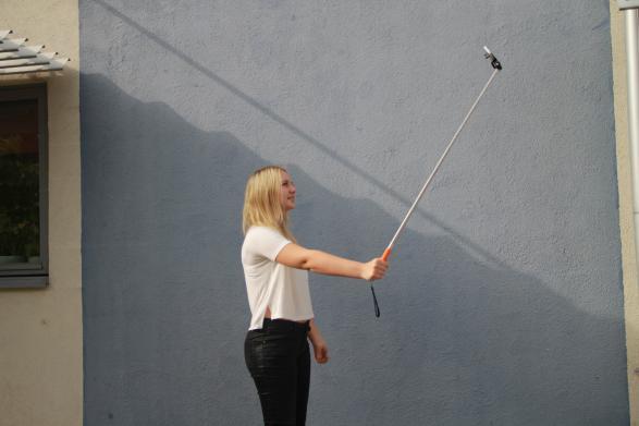 Det ser faktiskt lite mystiskt ut när man tar bilder med selfiepinnen!