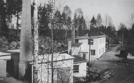Ekensfabriken i Örseryd troligen under 1940-talet fotograf Karl Nilsson.