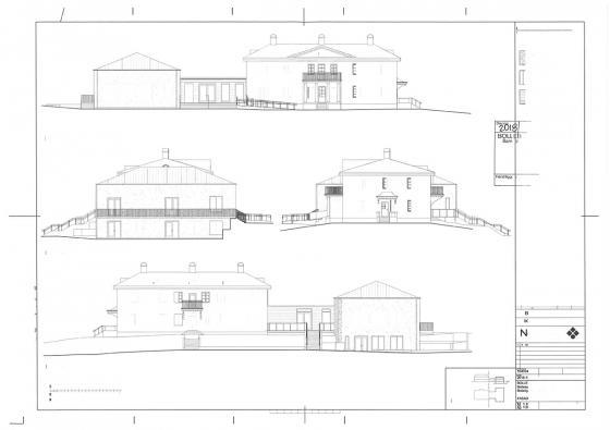 Det här vill kyrkan bygga och får positiva signaler från<br />de som har komptensen att avgöra byggen av det här slaget.<br />Men den politiska majoriteten i samhällsbyggnadsnämnden säger nej...<br />Översta bilden: Fasad mot sydväst (mot gamla R40)<br />Bilden längst ner: Fasad mot nordost. (Mot den nyare kyrkogården)