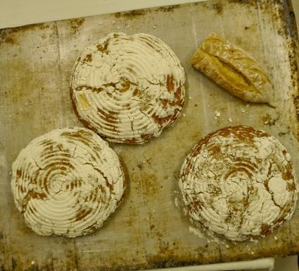 En av Tewes nyheter, bröd gjort av mjöl från sötpotatis