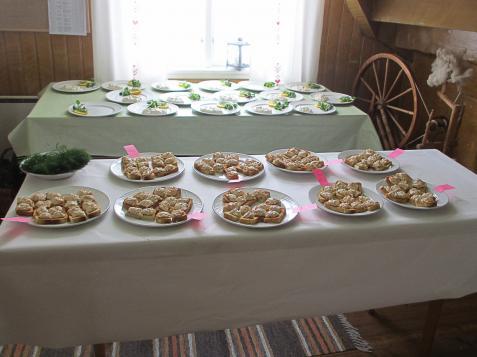 Ute i köket var allt väl förberett för servering.