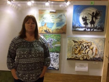 Pävi Blomqvist målar helst i olja och då gärna djur och tema fantasy, där hon hämtar mycket inspiration ifrån.