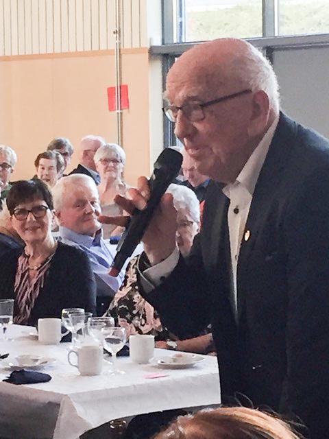 En verklig veteran och hedersgäst.<br />Bertil Lundqvist var med och bildade SPF i Bollebygd för 30 år sedan.