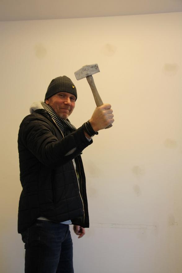 Stefan gillar verkligen sina verktyg.