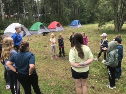 2021 genomförde vi ett kortare läger på hemmaplan. Många nöjda scouter, ledare och föräldrar.