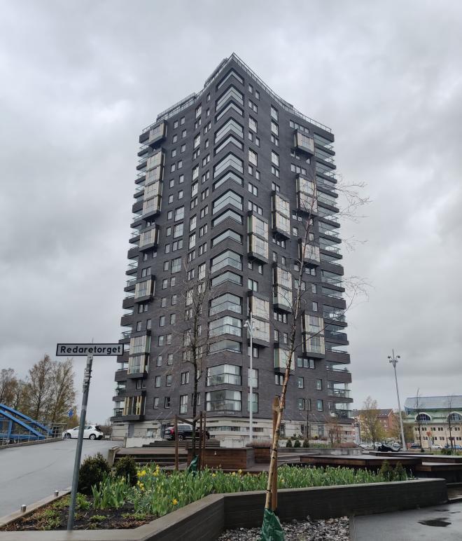 Bryggudden 62 meter högt och 21 våningarblev klart 2013.