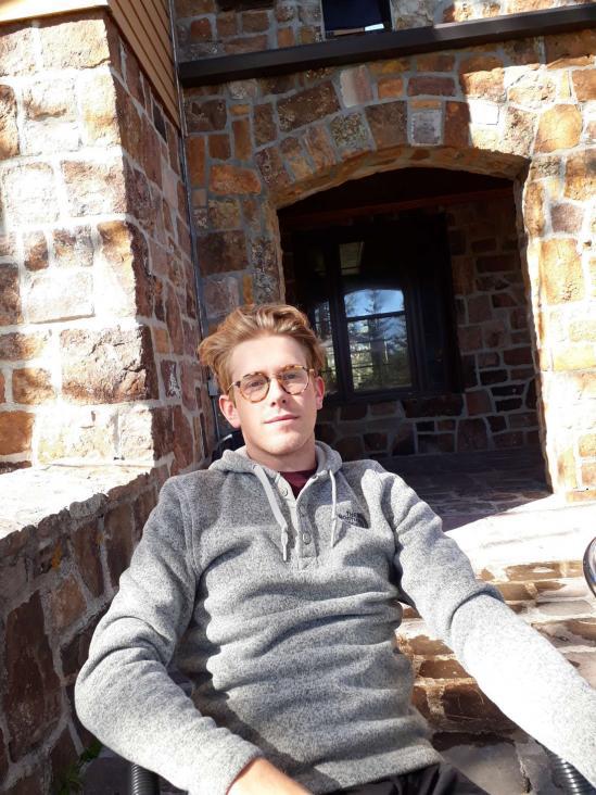 Erik Bernhardsson från Söderhamn var utbytesstudent i USA
