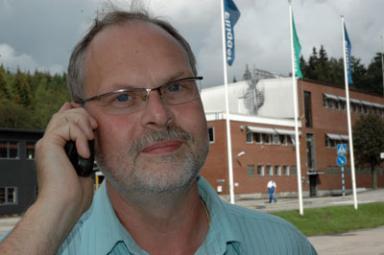 Glenn Gustavsson är produktionschefhos Flügger i Bollebygd.