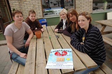 Arrangörerna från vänster:Tom Lillskog, Johan Andersson, Andréa Ekeroth, Jessica Johansson, Sandra Lund. Fattas på bilden gör Niklas Henriksson.