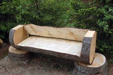 Ett av Björn Edsholms verk - en soffa
