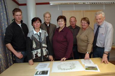 Vi vill ha synpunkter… Fr.v. Daniel Johnsson, Karin Eskilsby, Åke Johansson, Tina Hell, Lars-Håkan Johnsson, Ruth Bergman och Lennart Almén.