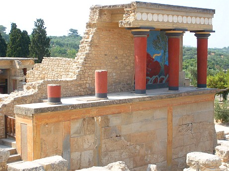 This is Bastion A at the North Entrance, noted for the Bull Fresco above it.