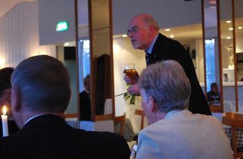 Vår ordförande, Jan Cedmark; hälsade välkommen till middagen