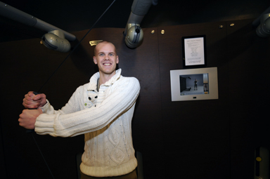 Jonas Granlund visar här upp en träningsteknik som bara finns på några få platser i landet.