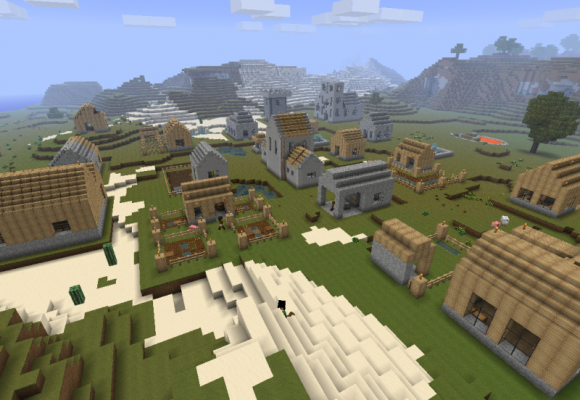 Detta är en stad som är byggt på en server av några spelare som man kanske ser.<br /><br />Denna bild kommer http://www.minecraftdl.com/