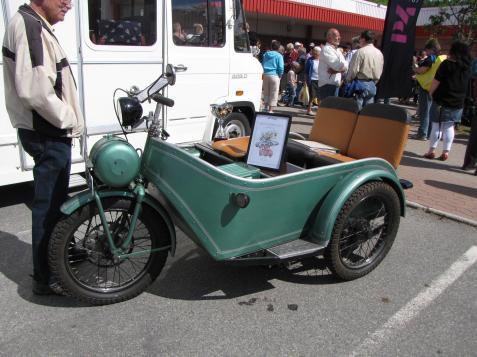 Ett av de mer originella fordonen var denna elcykel. Mer om cykeln kan du läsa på nästa bild.