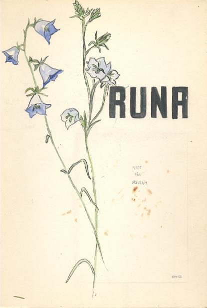 Runas soaréaffisch 1952. Det fastklistrade programmethar lossnat men finns i annan form