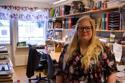 Lena Salorinne tycker elever sitter mer och mer stilla.