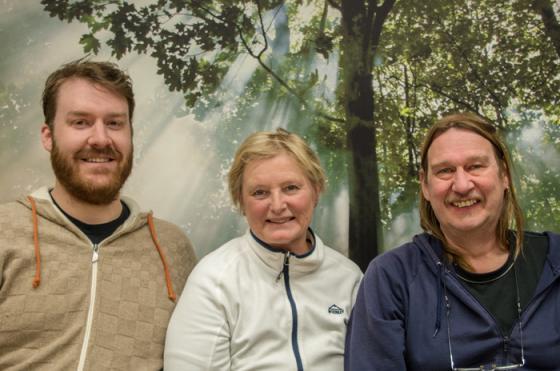 Det tre första på MP:s lista. Peter Berg, Rose-Marie Grune och Sassi Wemmer.