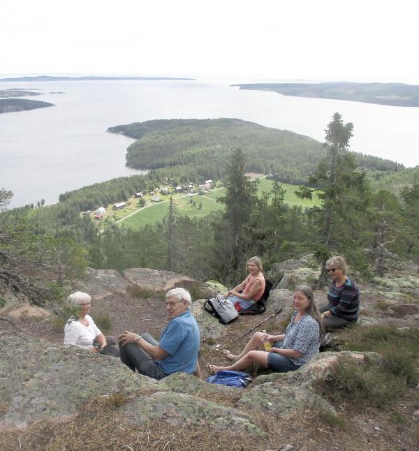 Vacker utsikt från Värnsberget
