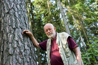 Tore Lundberg, en av många som arbetade med virkes- och påhandel.
