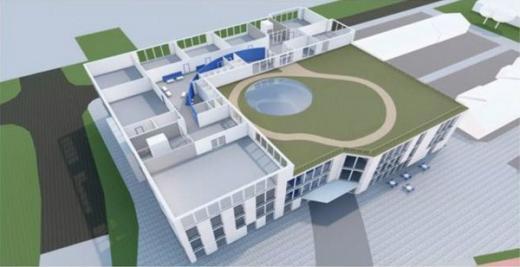 Preliminära ritningar på översta våningen på den nya skolan. Illustration: Arkitektgruppen Tullberg