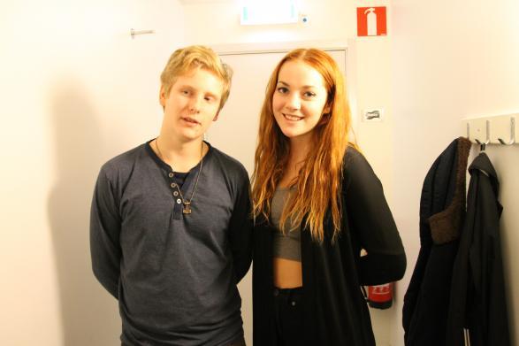 Hampus Malmgren och Olivia Klang var här och informerade om teaterprogrammet.