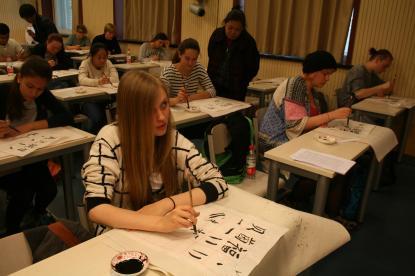 Kalligrafi ingår i skolveckan