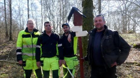 Stefan Rehberg har varit arbetsledare för Bygd I Samverkans projekt som pågått en längre tid, då man har öppna upp och utvecklat naturstigen runt Ekfors.