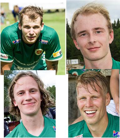 Dagens målgörare: Anton Svanlind, Albin Larsson, Jonas Ganning och Jesper Berens.