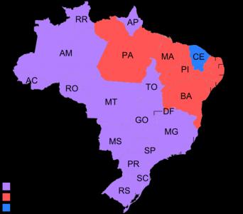 Valresultatet efter första omgången i Brasiliens val