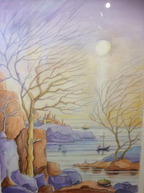 I Hans Villy Fribergs tavlor är det nästan alltid ljuset som är det centrala.