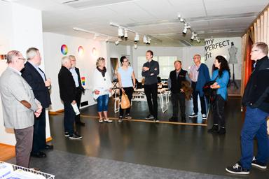 Erik Torstensson visade företagets showroom.