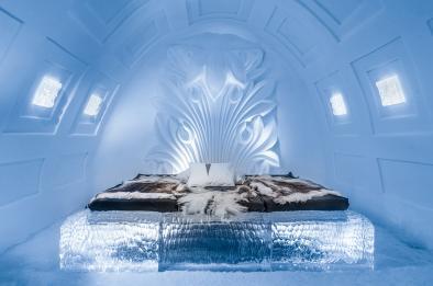 Sovrummet i ishotellet