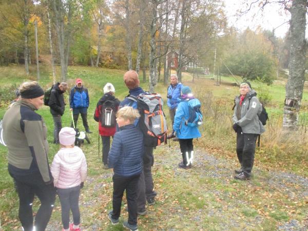 Det var roligt att se några unga deltagare i dagens vandring