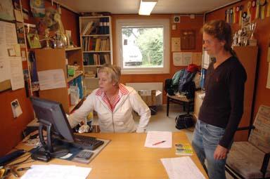 Jill Nordh och Katarina Ferm svarade för administrationen av tävlingarna