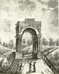 Äreporten vid Gustavsbron 1819