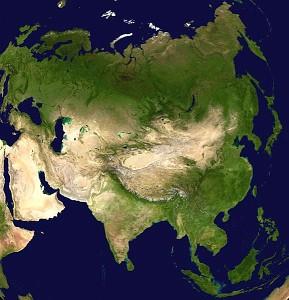 Asia - satellite view