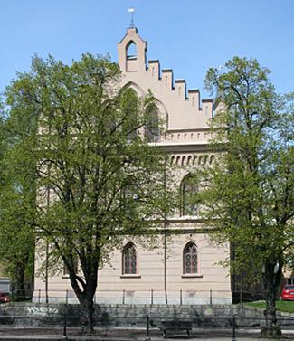 Frimurarhuset. Byggt på Vasaskolans brandruin.