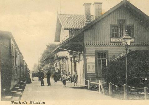 Så här såg det ut när seklet var ungt. Bilden visar stationen 1902.