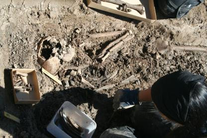 Kistgrav med två skelett