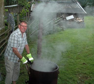 Rolf är en av medlemmarna i Bollebygds Hembygdsförening