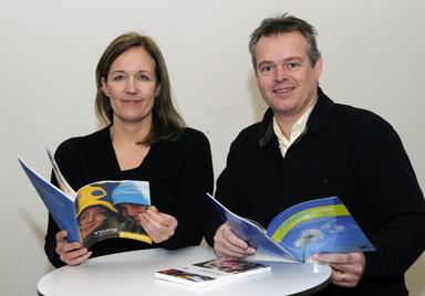 Camilla Falk och Patrik Gimfalk, folkhälsosamordnare respektive kutursamordnare ligger bakom ansökan om ett EU DIREKT KONTOR till Bollebygd.