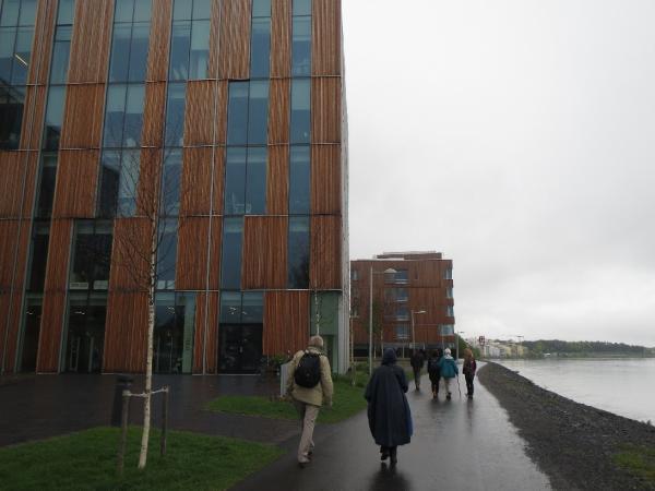 Några avvikare på väg till Bildmuséet i Umeå