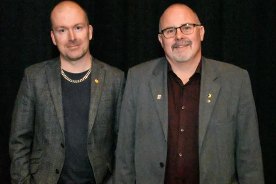 Patrik Karlsson (KD) och Ulf Rapp (S),ordförande respektive <br />vice ordförande i bildnings- och omsorgsnämnden.